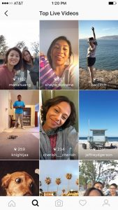 Instagram - top live videos