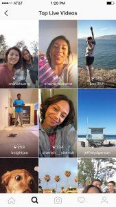 Instagram - top live videos