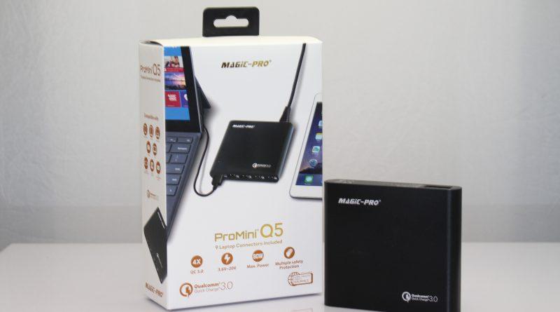 支援多款筆電與 Quick Charge 3.0:輕巧的 ProMini Q5 雙用快速充電器開箱