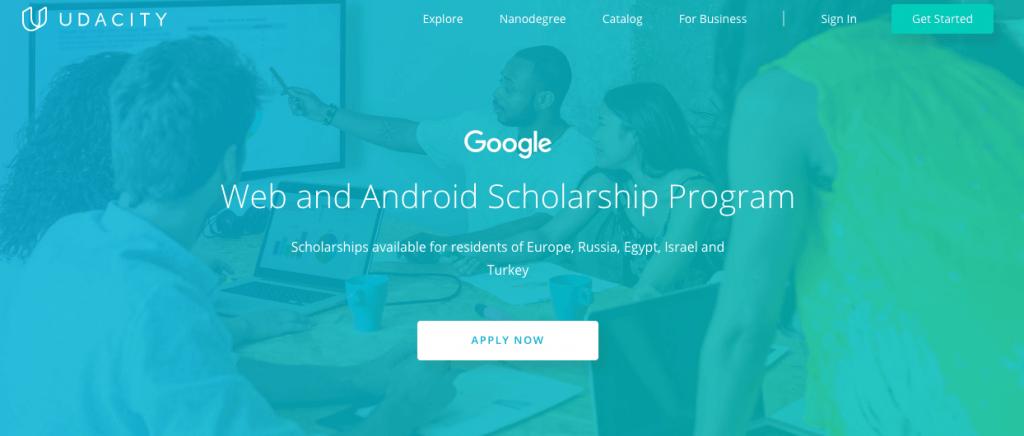 Udacity 提供獎學金