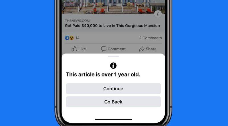 減少 Old News is so 唔識串? Facebook推出轉發過時新聞通知