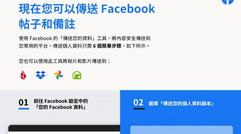 Facebook 讓用戶轉移帖子和備註
